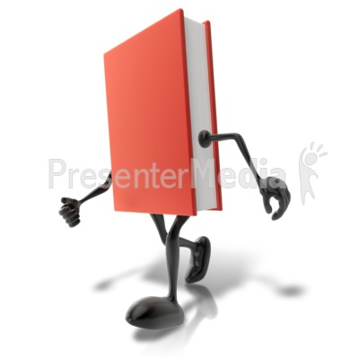 Walking Book Character Presentation clipart