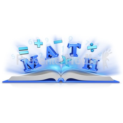 Math Text Symbols In Book Presentation clipart