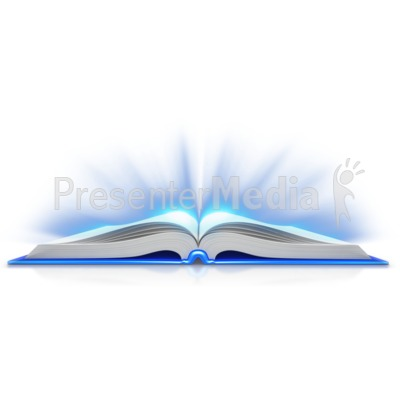 Book Open Light Shine Out Presentation clipart