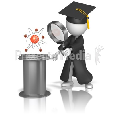 Graduate Studying Science Presentation clipart