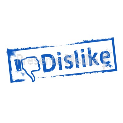 Dislike Ink Stamp Presentation clipart