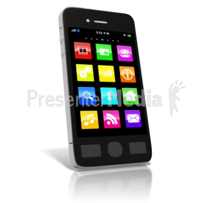 Smart Phone Media Icons Presentation clipart