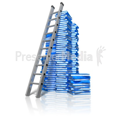 Books And Ladder Presentation clipart