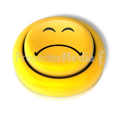 Smiley Face Sad Button Presentation clipart