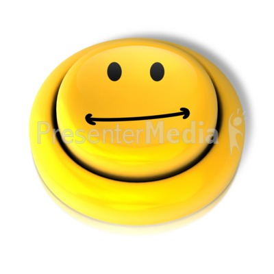 Smiley Face Neutral Button Presentation clipart