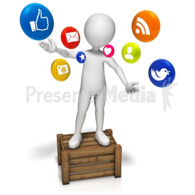 Talking Social Media Presentation clipart