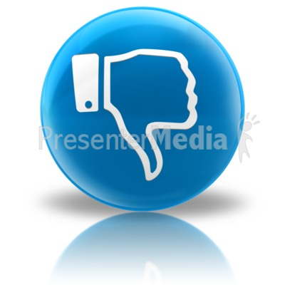 Media Icon - Dislike Presentation clipart