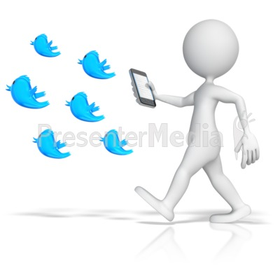 Following Tweets Presentation clipart