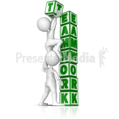 Building Teamwork Presentation clipart