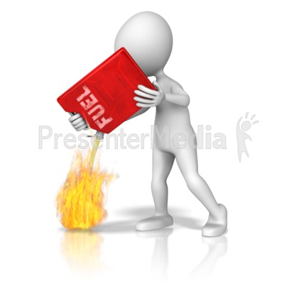 Adding Fuel To The Fire Presentation clipart