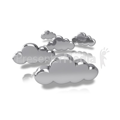 Silver Tech Clouds Presentation clipart