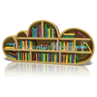 Cloud Bookshelf Presentation clipart