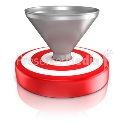 Funnel On Bullseye Presentation clipart