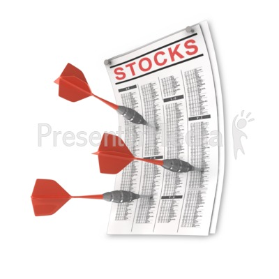 Darts Stuck Into Stock Page Presentation clipart