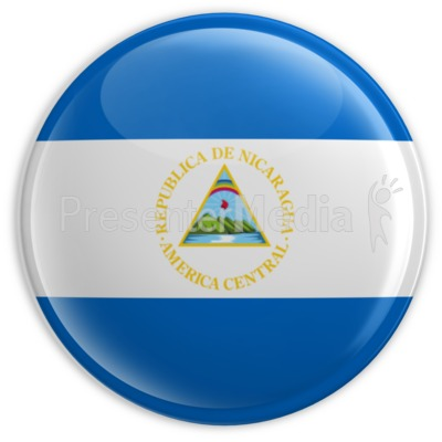 Badge of Nicaragua  Presentation clipart