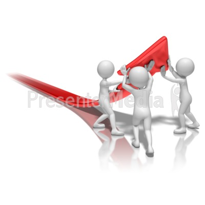 Stick Figures Lift Arrow Presentation clipart