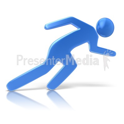 Sprinting Character Pose Presentation clipart