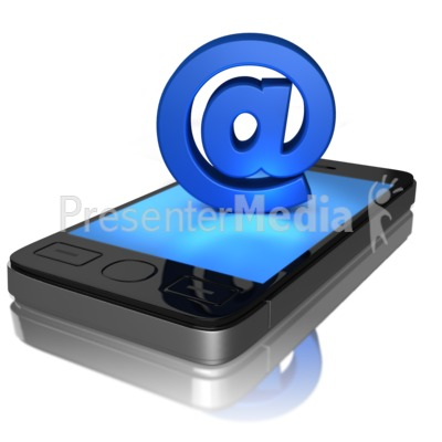 Mobile Email Presentation clipart