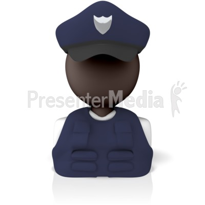 Police Officer Icon Presentation clipart