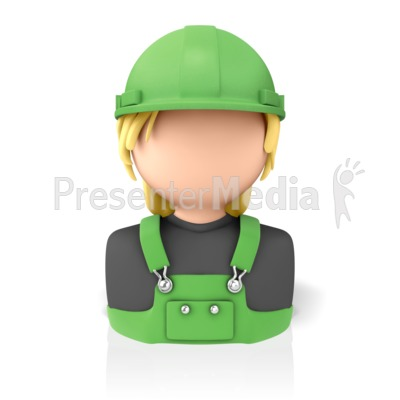 Woman Construction Icon Presentation clipart