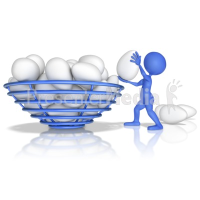 Figure Putting All Eggs In One Basket Presentation clipart
