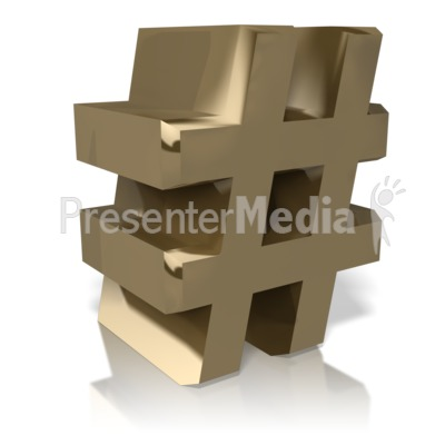 Golden Number Sign Presentation clipart