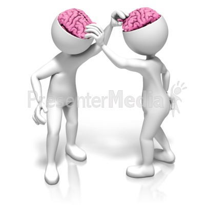 Picking Each Others Brains Presentation clipart