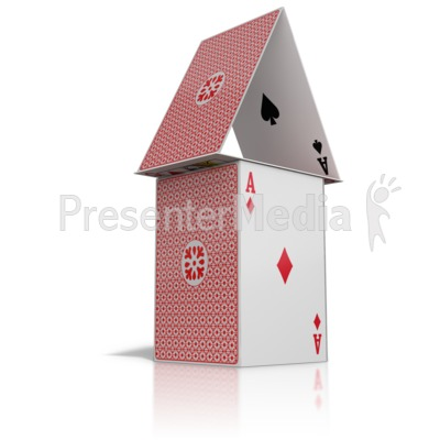 House Built Of Cards Presentation clipart