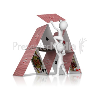 Building House Of Cards Presentation clipart