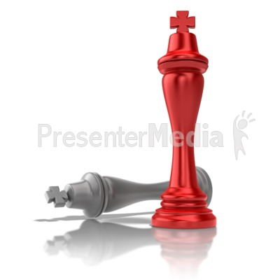 Chess King Victory Presentation clipart