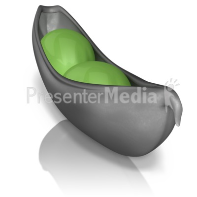 Two Peas In A Pod Stand Out Presentation clipart