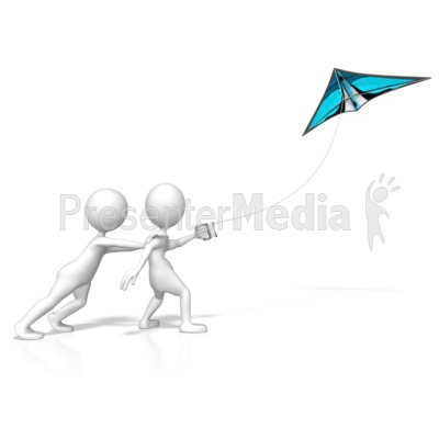 Go Fly A Kite Presentation clipart