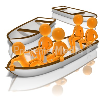 All In The Same Boat Presentation clipart