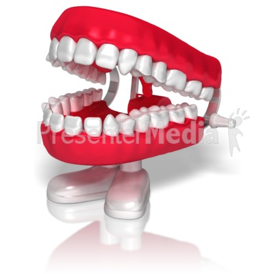 Chatter Teeth Presentation clipart