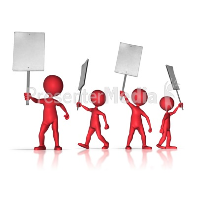 Group of Protesters Presentation clipart
