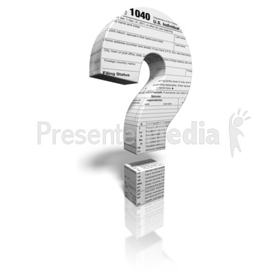 Tax Question Mark Presentation clipart