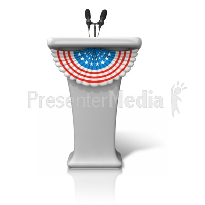 Podium With Stars Stripes Presentation clipart