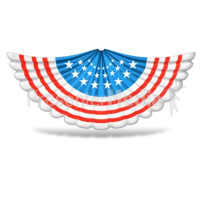Patriotic Accordion Banner Presentation clipart