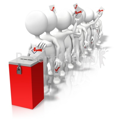 Voting Line Ballot Box Presentation clipart