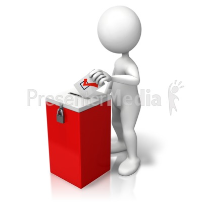 Stick Figure Ballot Box Presentation clipart