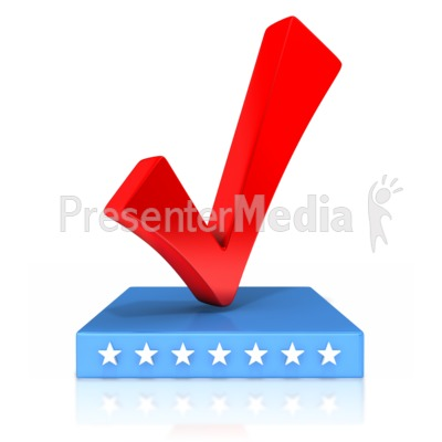 Check Mark Patriotic Presentation clipart
