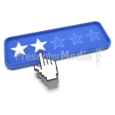 Two Star Pointing Presentation clipart