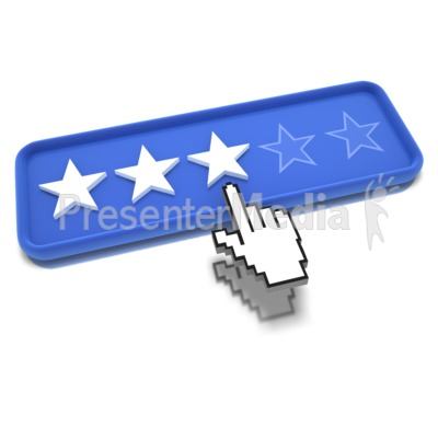 Three Star Pointing Presentation clipart