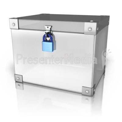 Locked Up Box Presentation clipart