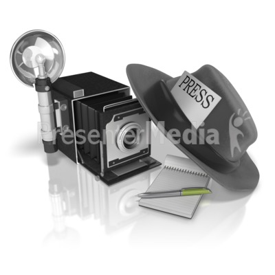 Press Journalist Gear Presentation clipart