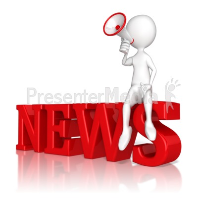 Announce The News Presentation clipart