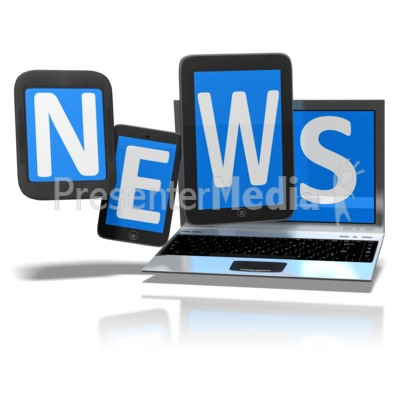News On Digital Devices Presentation clipart