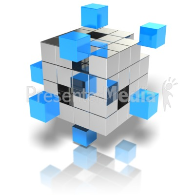 Cubes Stand Out Presentation clipart