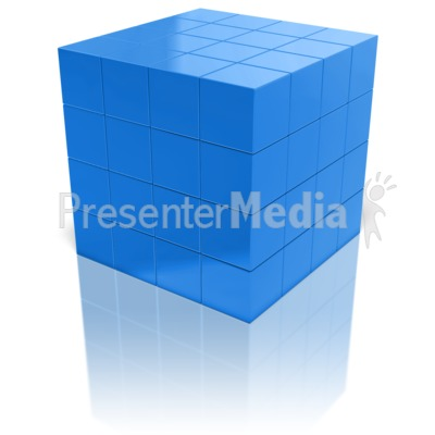 Array Of Cubes Presentation clipart