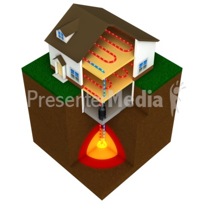 Geothermal House Presentation clipart